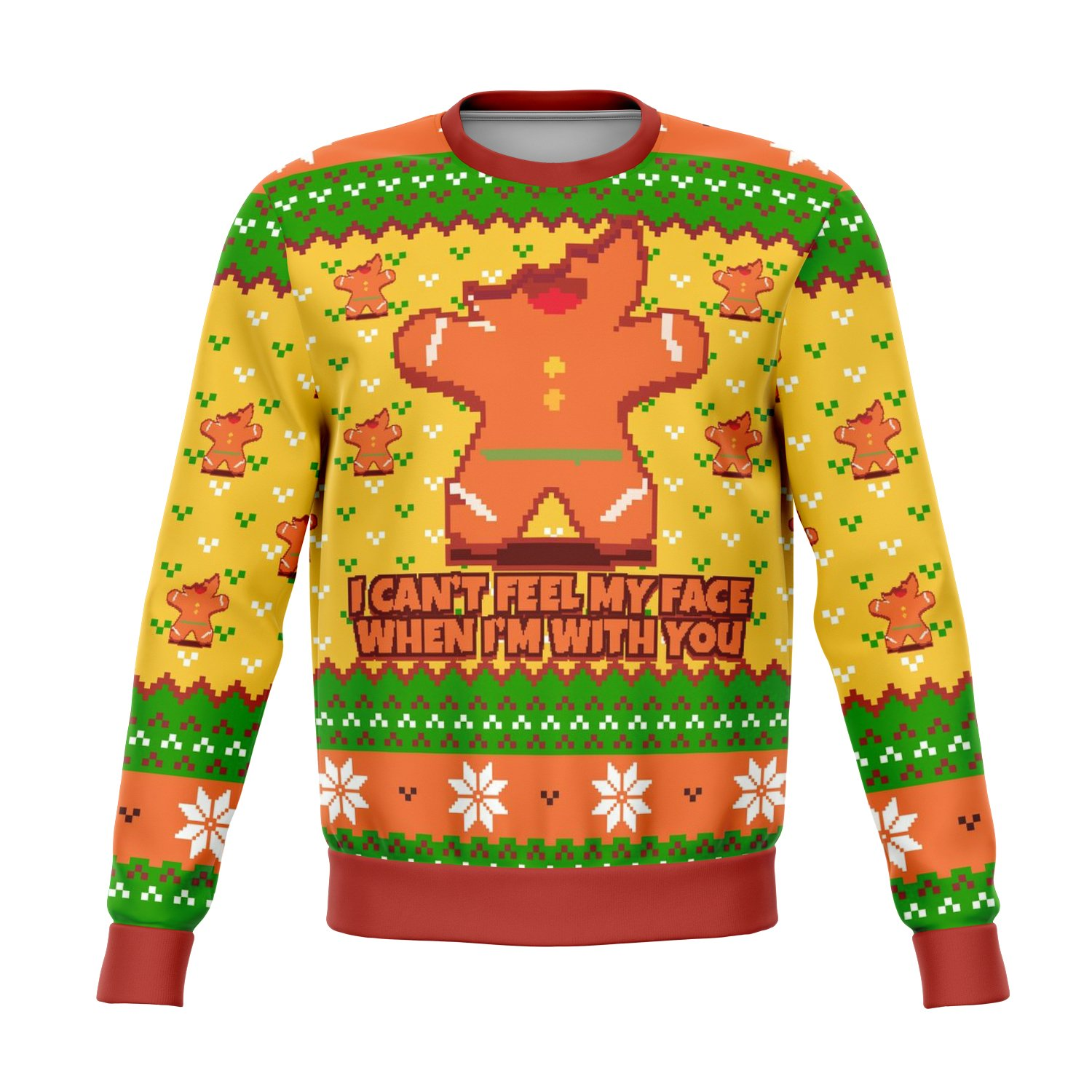I Cant Feel My Face When I'm With You Funny Ugly Sweater