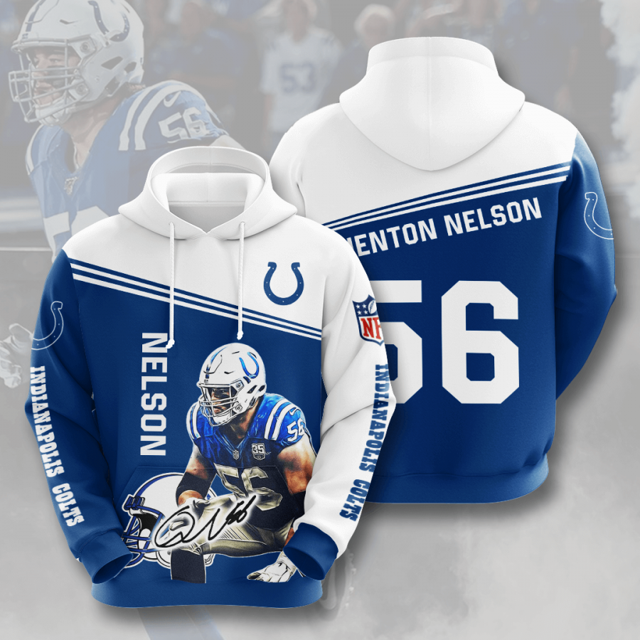 Indianapolis Colts No823 Custom Hoodie 3D
