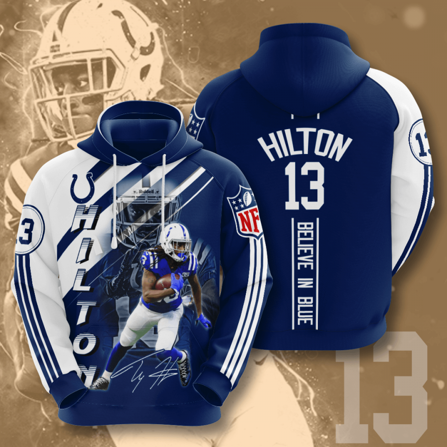 Indianapolis Colts No825 Custom Hoodie 3D