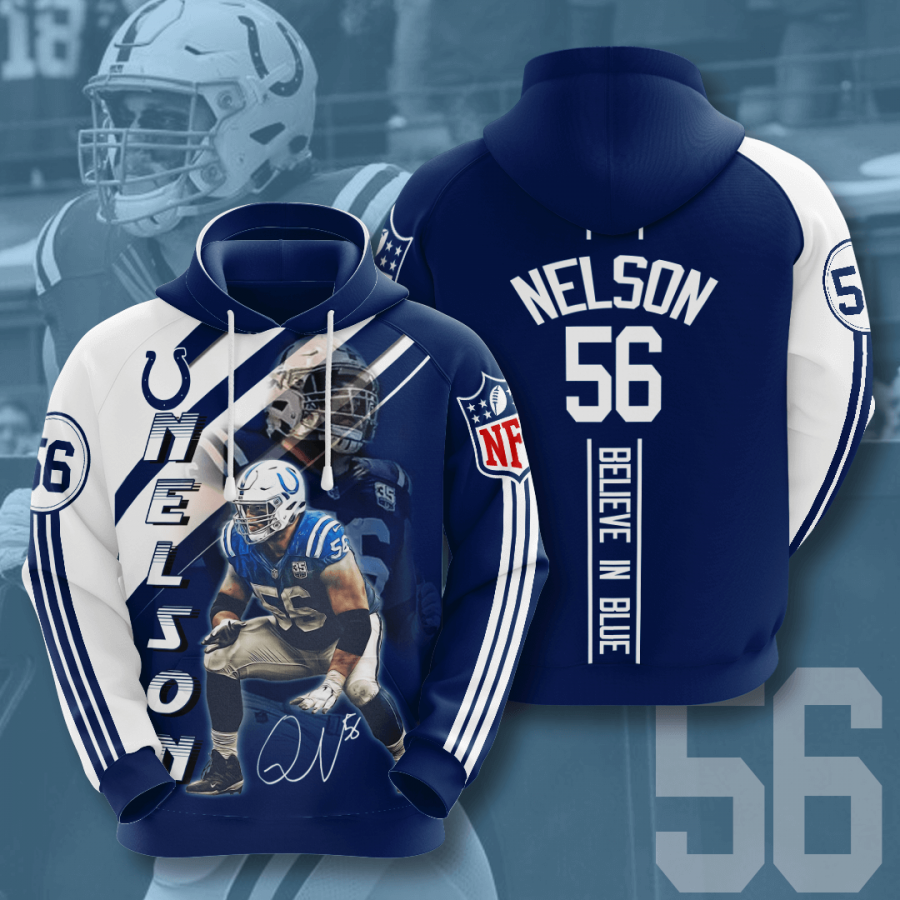 Indianapolis Colts No828 Custom Hoodie 3D