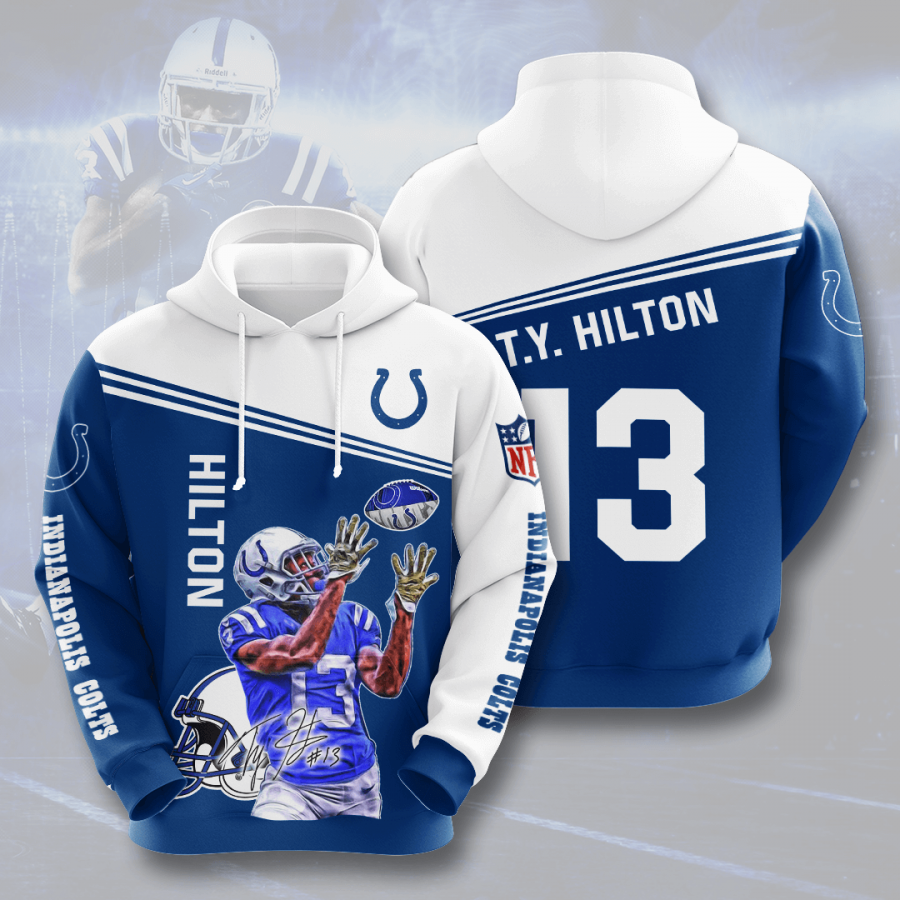 Indianapolis Colts No840 Custom Hoodie 3D