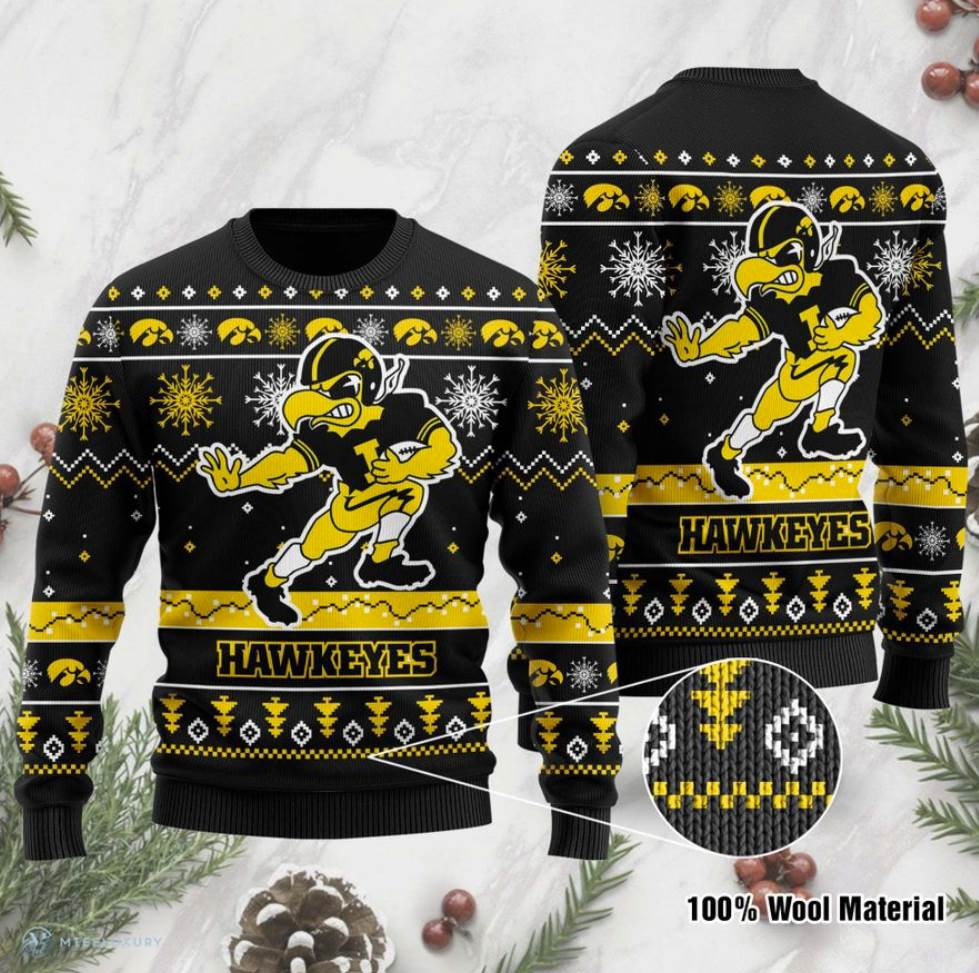 Iowa Hawkeyes Football Ugly Sweater