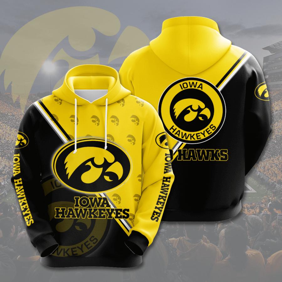Iowa Hawkeyes No850 Custom Hoodie 3D