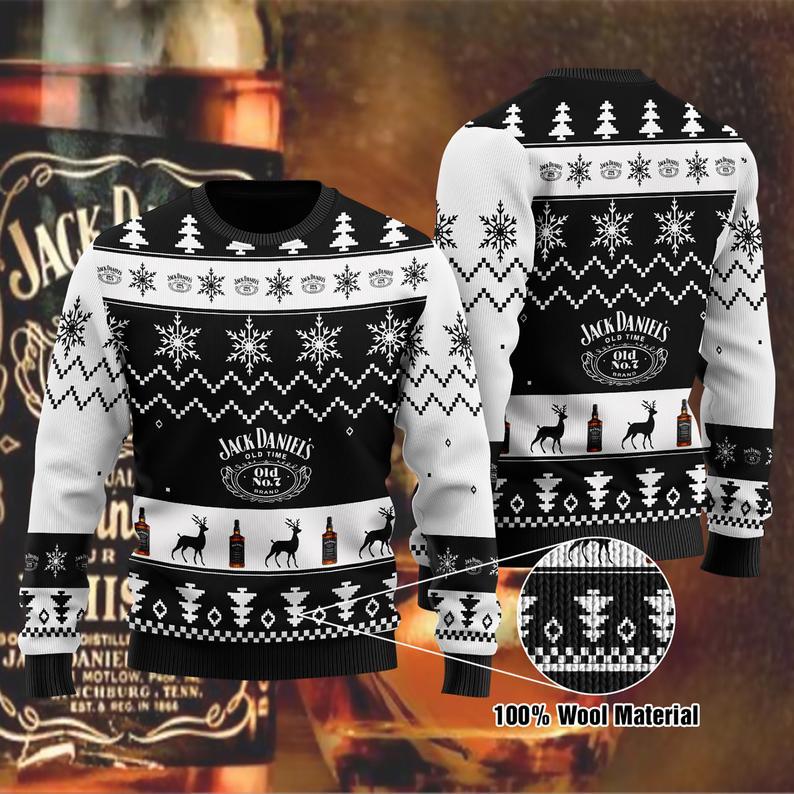 Jack Daniel's ' Christmas 100% Wool Ugly Sweater
