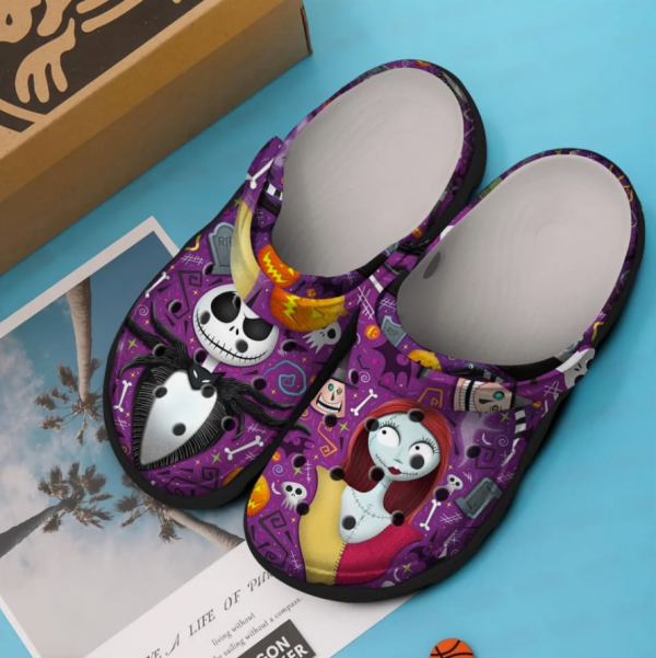 Jack Skellington And Sally Crocs Clog Shoes