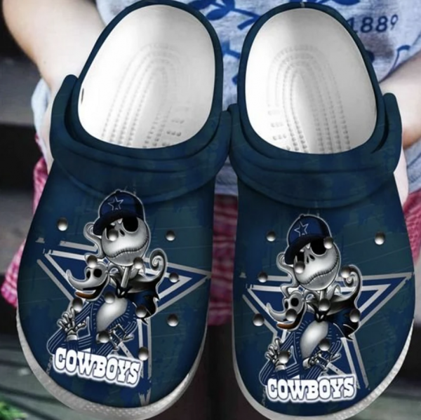 Jack Skellington Dallas Cowboys Crocs Clog Shoes