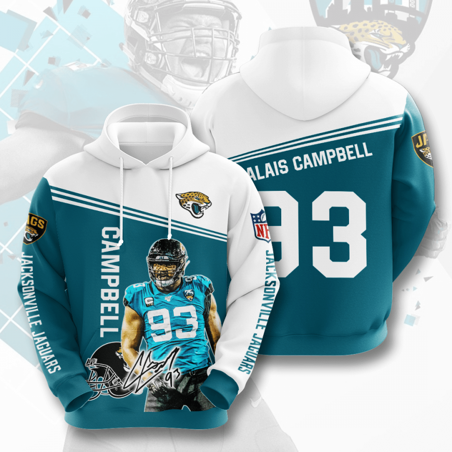 Jacksonville Jaguars No881 Custom Hoodie 3D