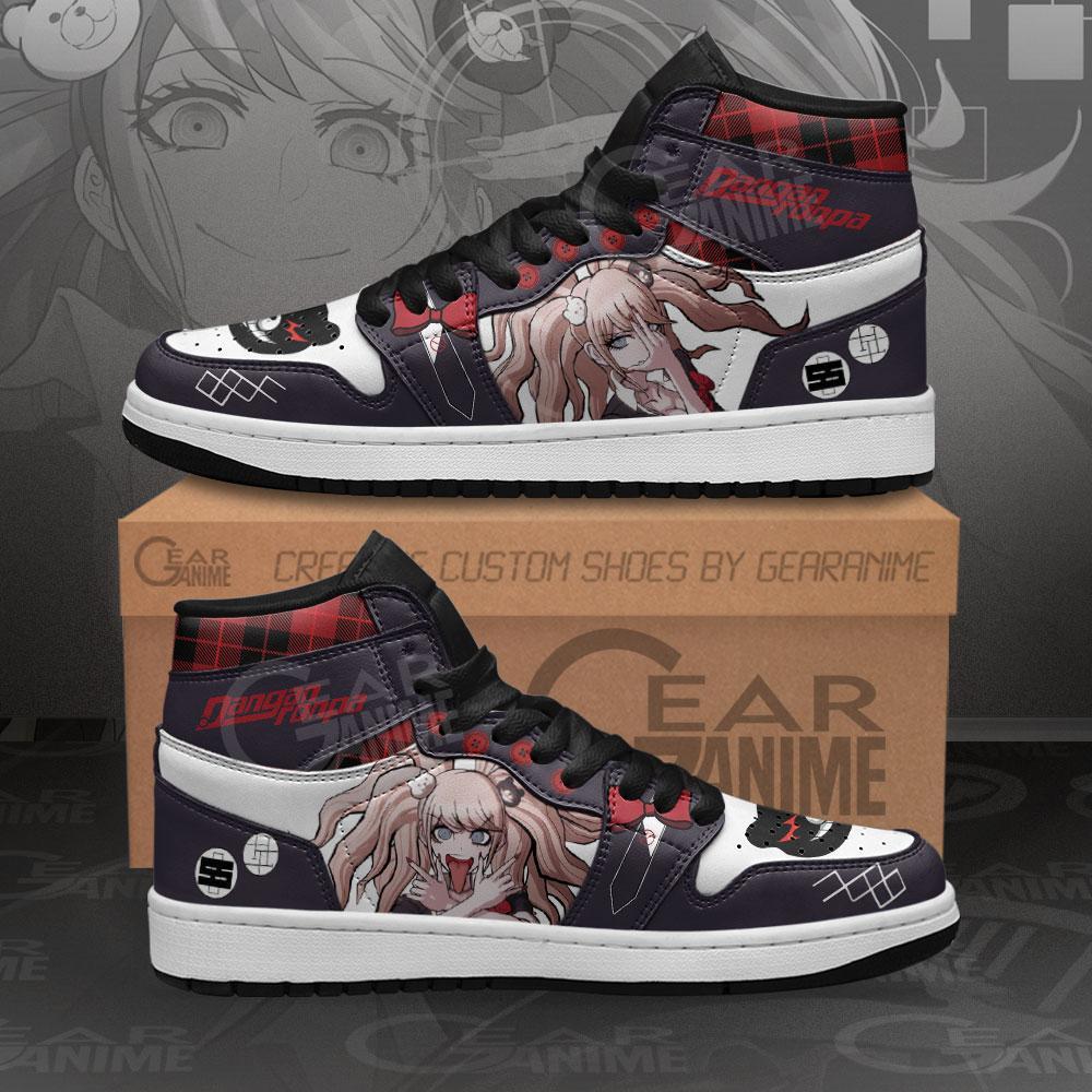 Junko Enoshima Sneakers Dangan Ronpa Custom Anime Air Jordan Shoes