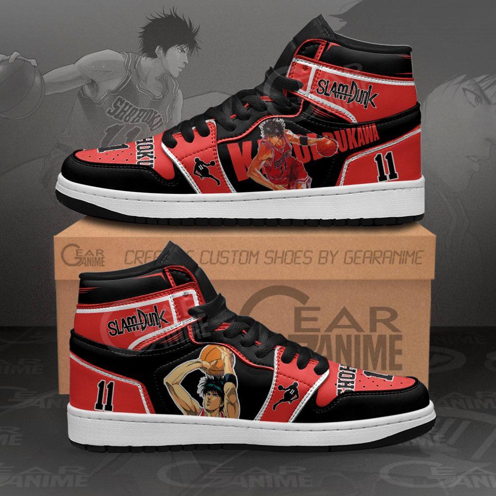 Kaede Rukawa Sneakers Slam Dunk Anime Air Jordan Shoes