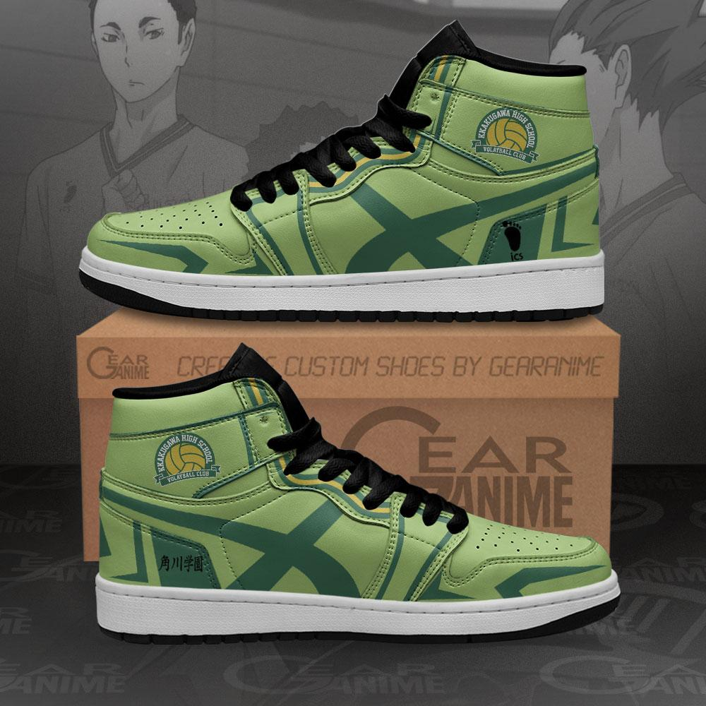 Kakugawa High Sneakers Haikyuu Anime Air Jordan Shoes