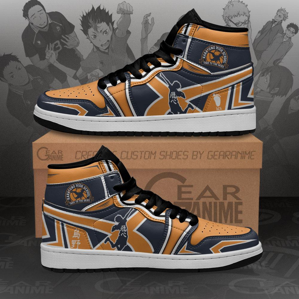 Karasuno High Sneakers Haikyuu Anime Air Jordan Shoes