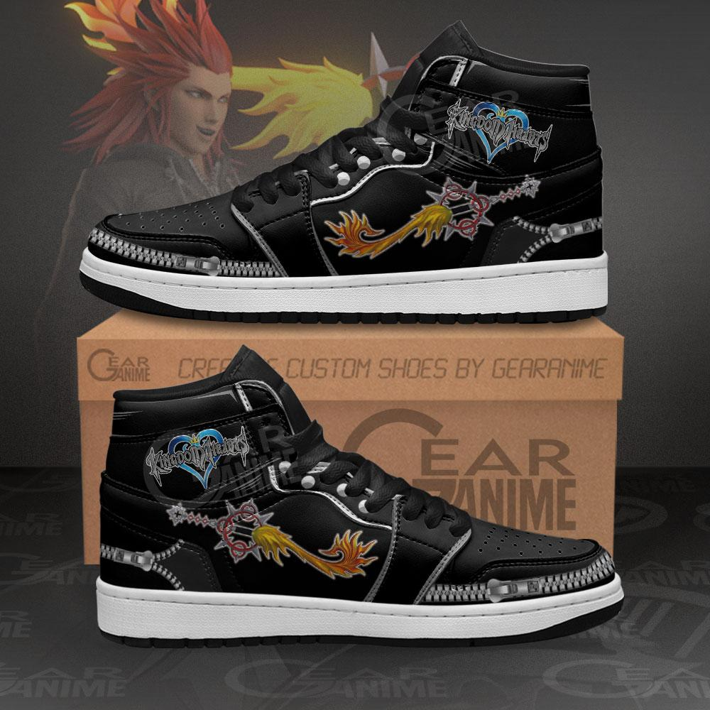 Kingdom Hearts Axel Lea Sword Sneakers Anime Air Jordan Shoes