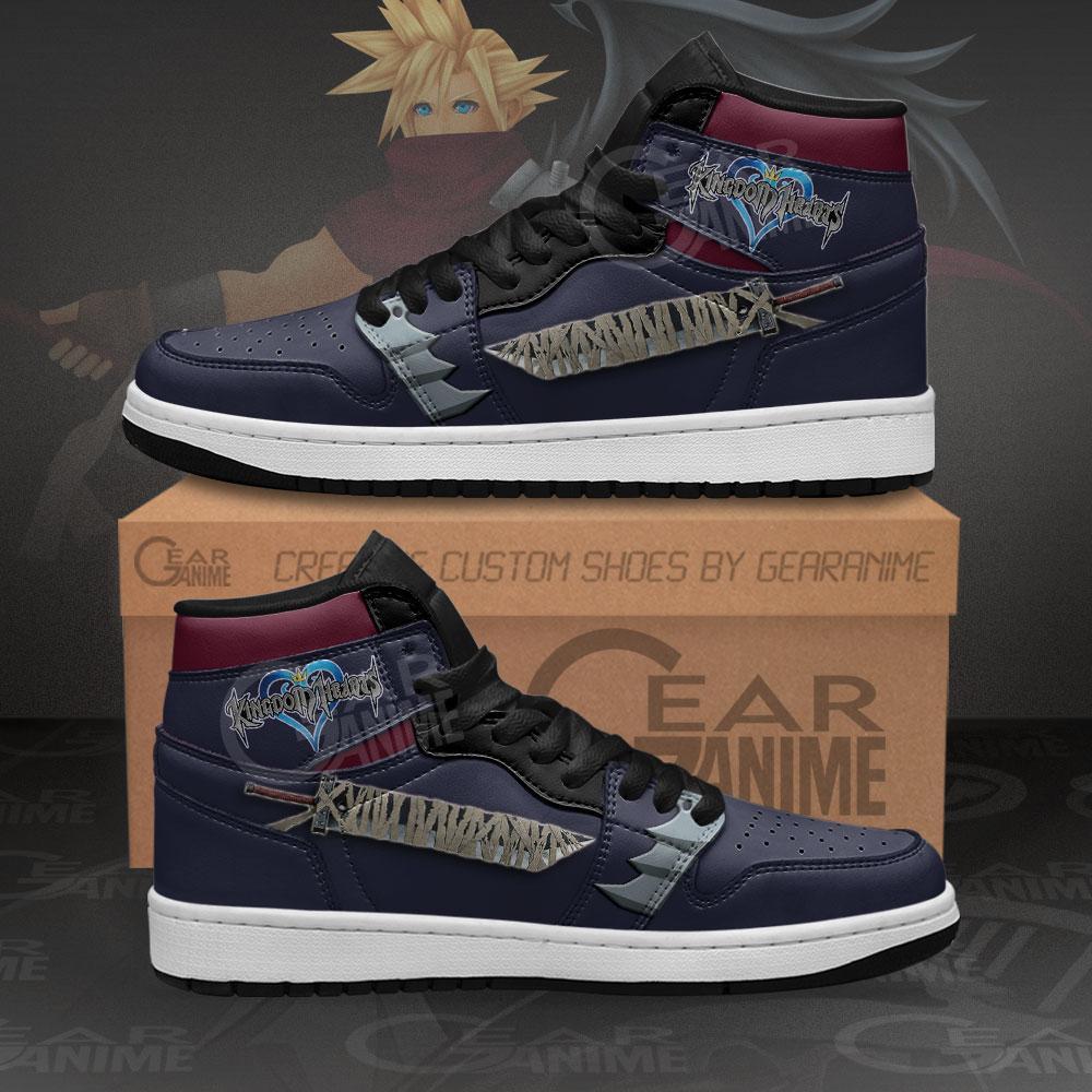 Kingdom Hearts Cloud Sword Sneakers Anime Air Jordan Shoes