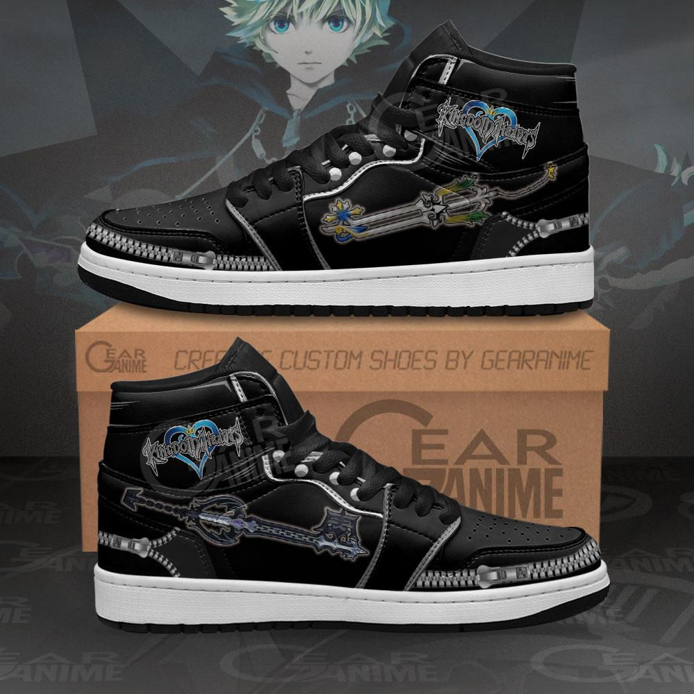 Kingdom Hearts Roxas Sword Sneakers Anime Air Jordan Shoes