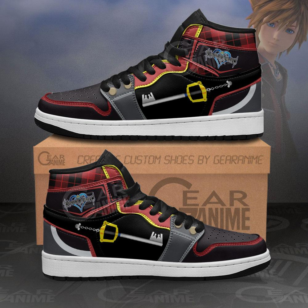Kingdom Hearts Sora Sword Sneakers Anime Air Jordan Shoes