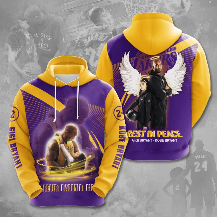 Kobe Bryant Los Angeles Lakers No970 Custom Hoodie 3D