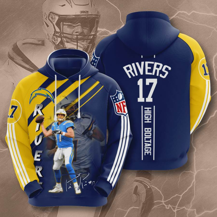 Los Angeles Chargers No1022 Custom Hoodie 3D