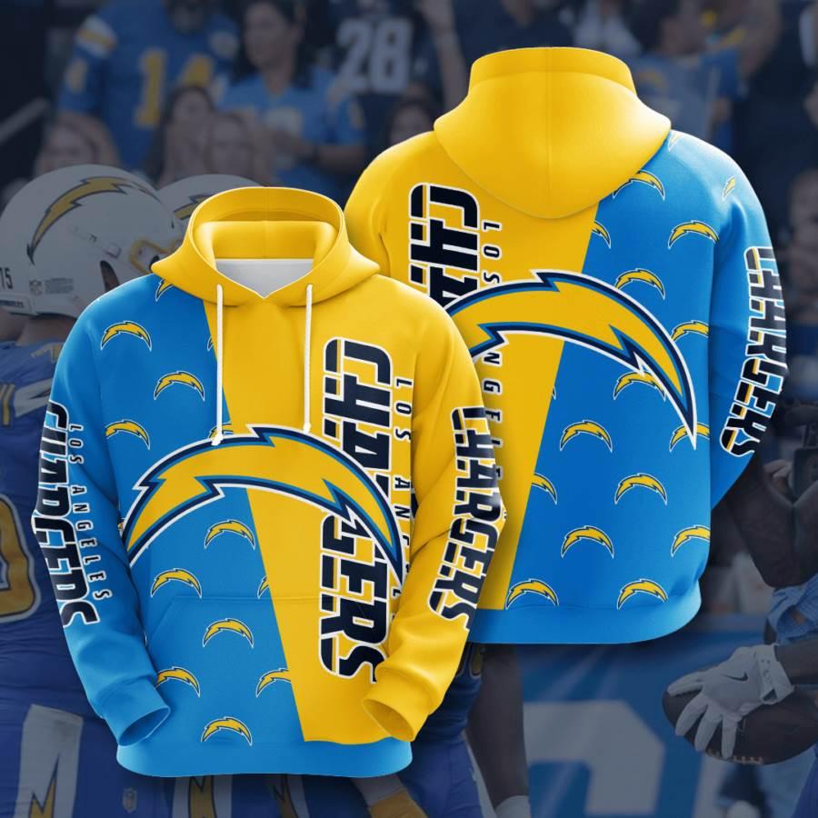 Los Angeles Chargers No1025 Custom Hoodie 3D
