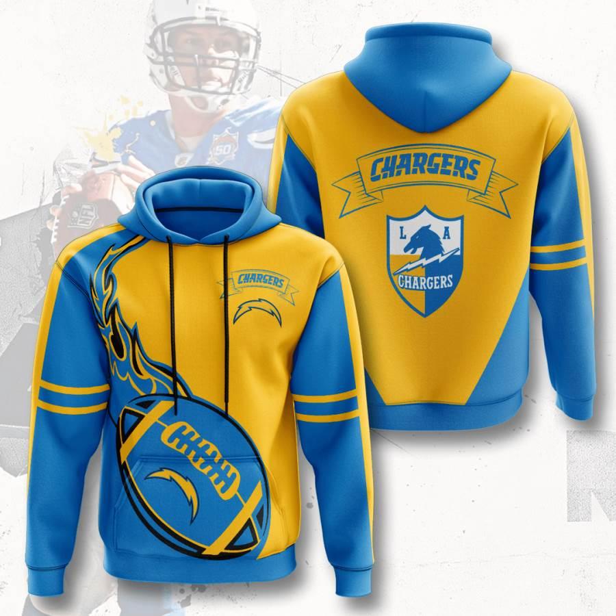Los Angeles Chargers No1027 Custom Hoodie 3D