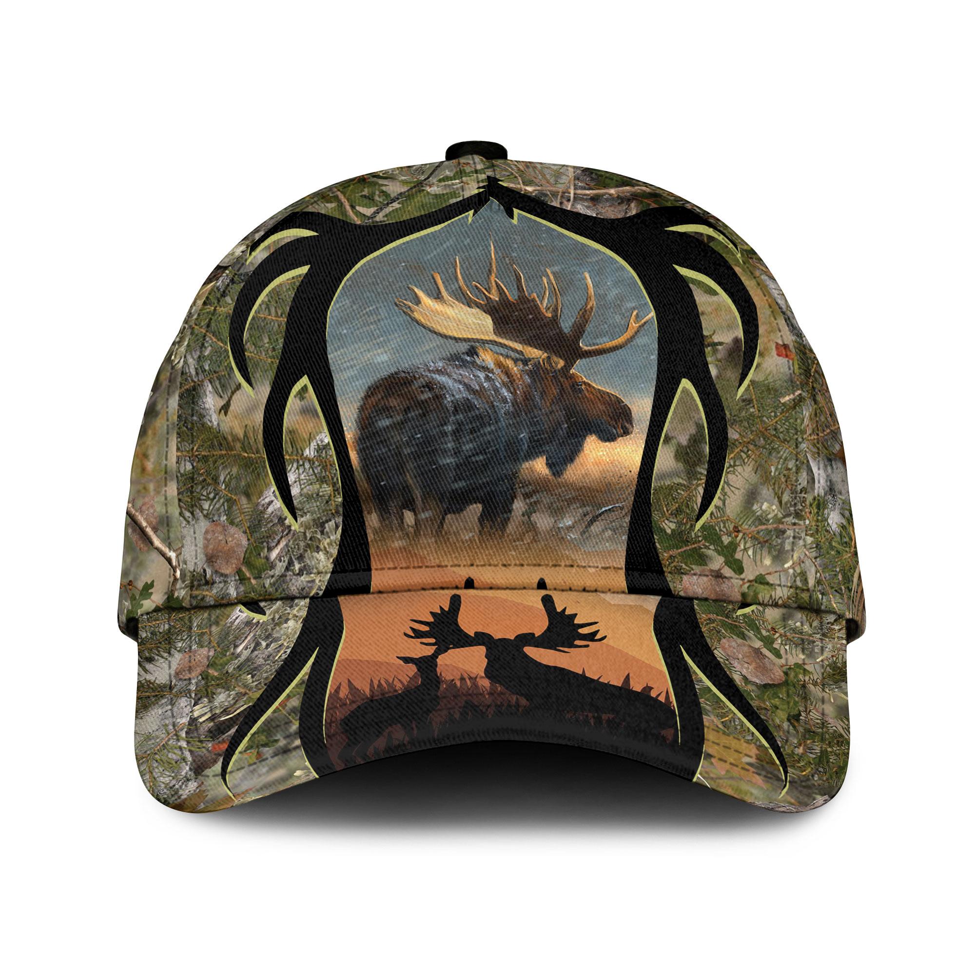 Love Moose Hunting Camouflage Sku 147 Classic Cap