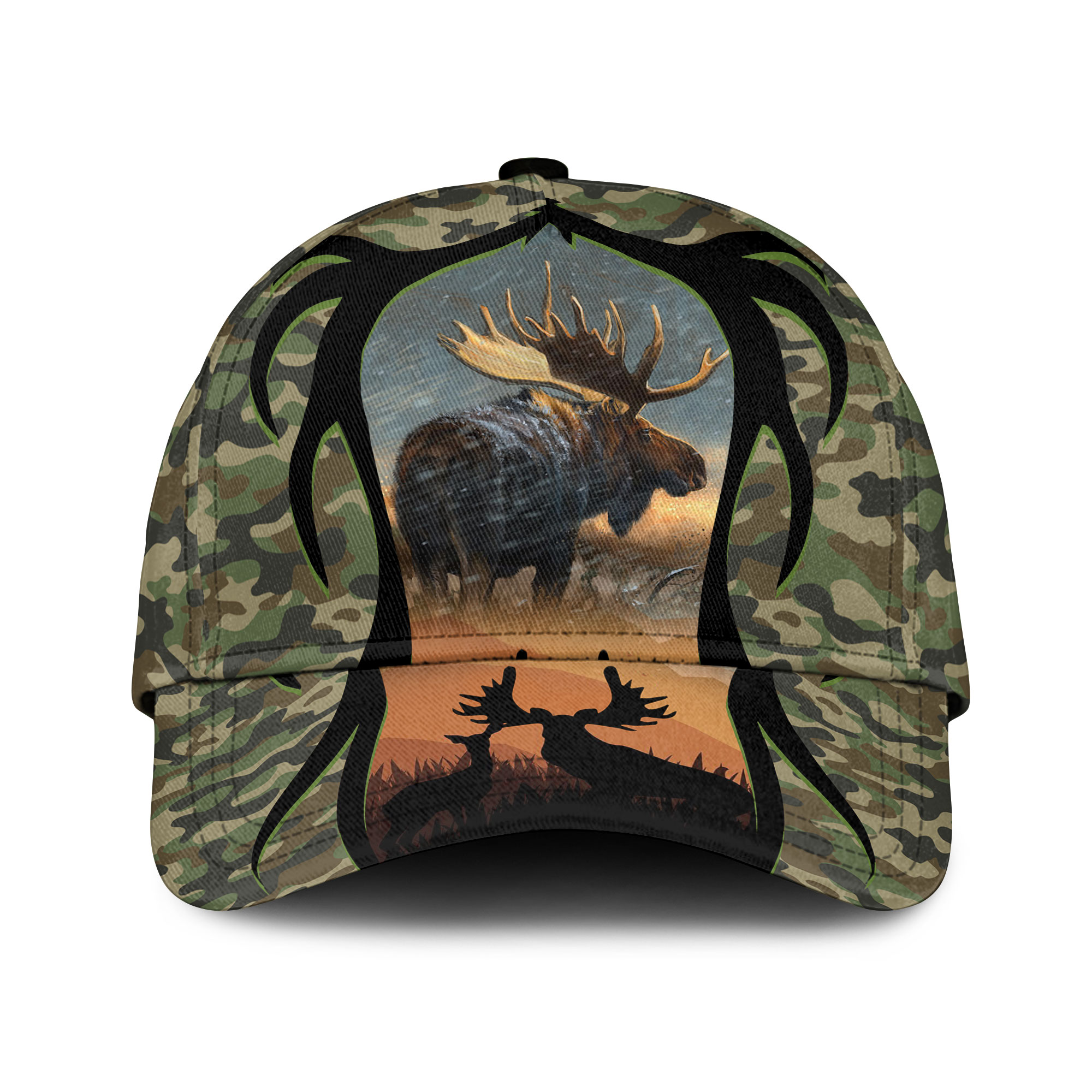 Love Moose Hunting Camouflage Sku 148 Classic Cap