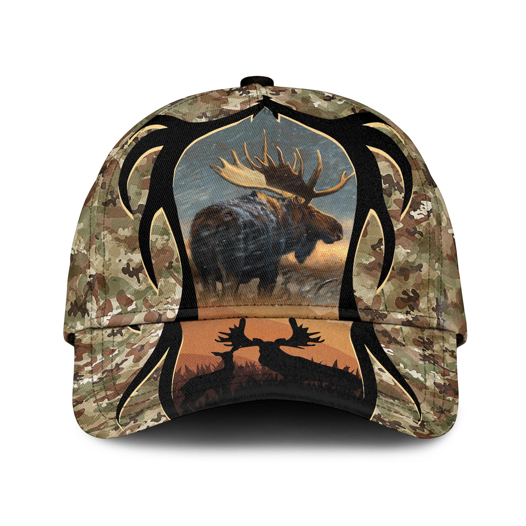 Love Moose Hunting Camouflage Sku 150 Classic Cap