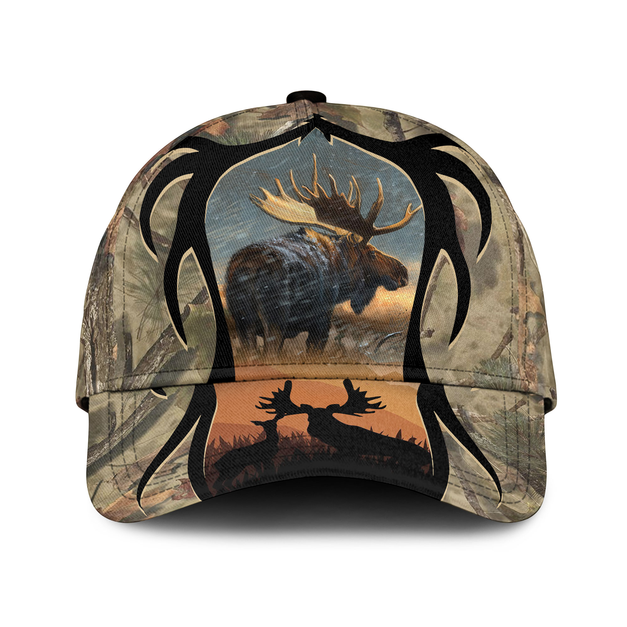 Love Moose Hunting Camouflage Sku 151 Classic Cap