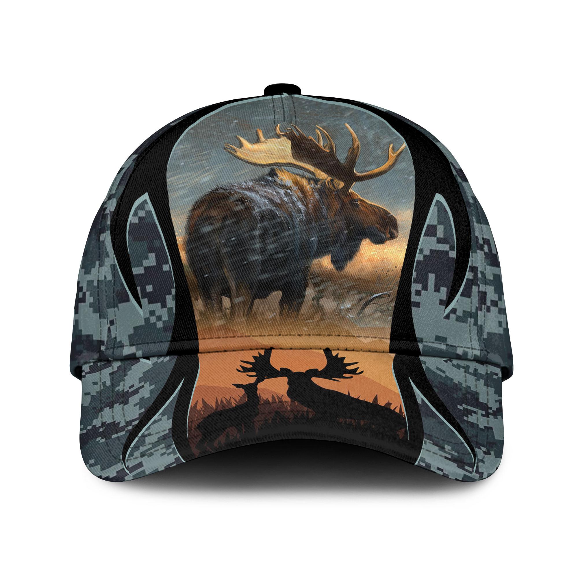 Love Moose Hunting Camouflage Sku 152 Classic Cap