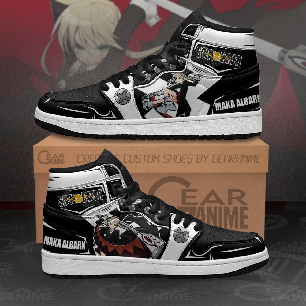 Maka Albarn Sneakers Soul Eater Custom Anime Air Jordan Shoes