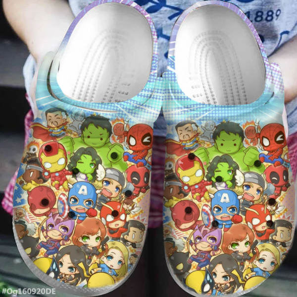 Marvel Heroes Chibi Crocs Clog Shoes