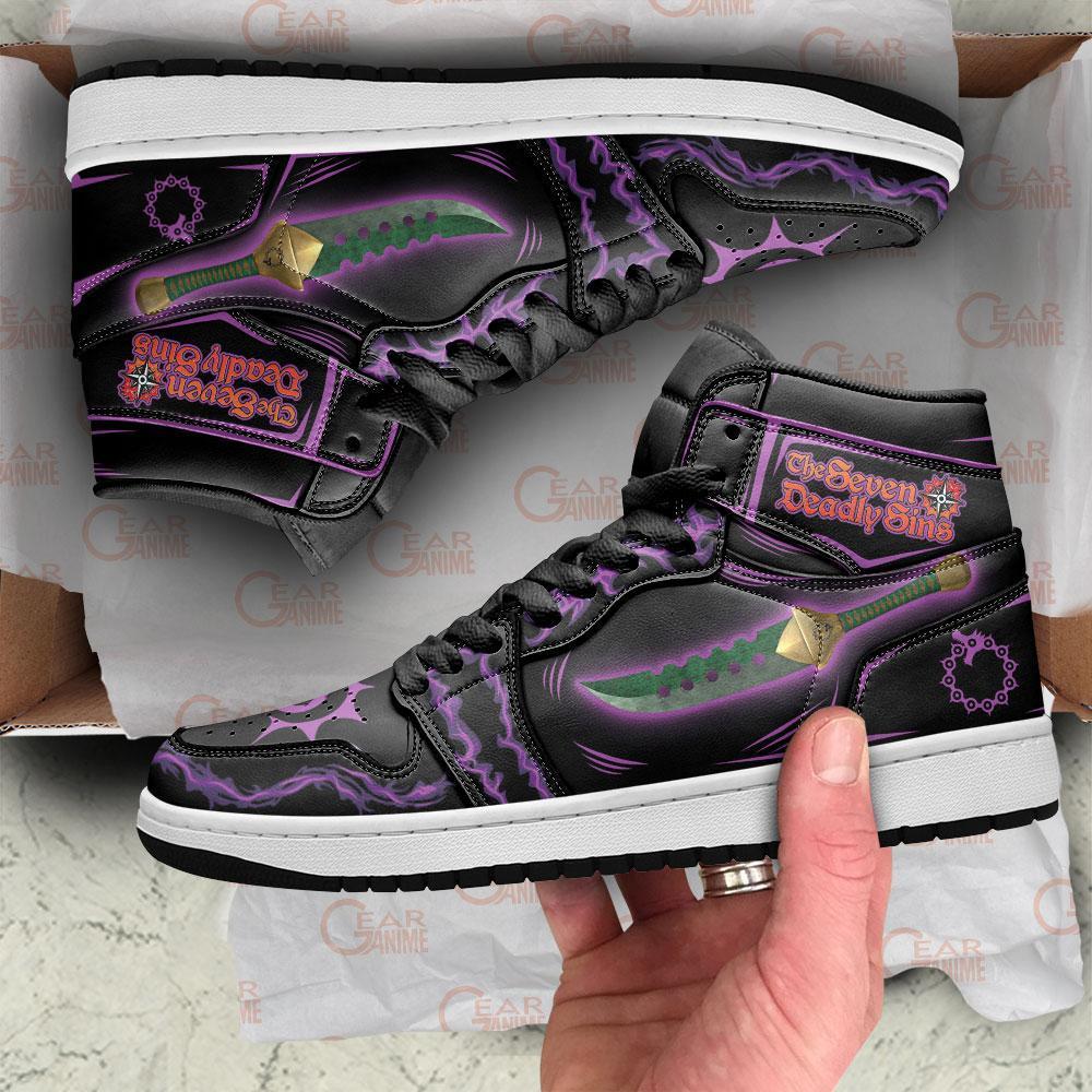 Meliodas Sword Sneakers Seven Deadly Sins Anime Air Jordan Shoes