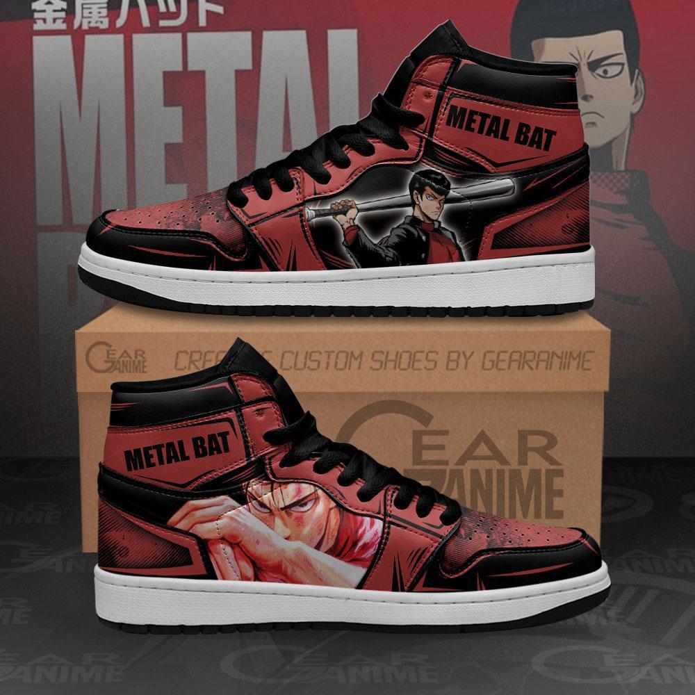 Metal Bat Sneakers One Punch Man Anime Custom Air Jordan Shoes
