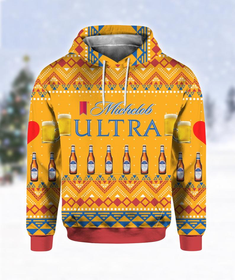 Michelob Ultra Beer Bottles Ugly Sweater