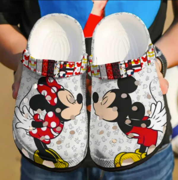 Mickey Mouse And Minnie Mouse Crocs Clog Shoes