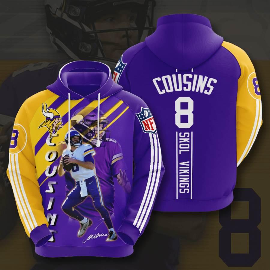Minnesota Vikings No1232 Custom Hoodie 3D