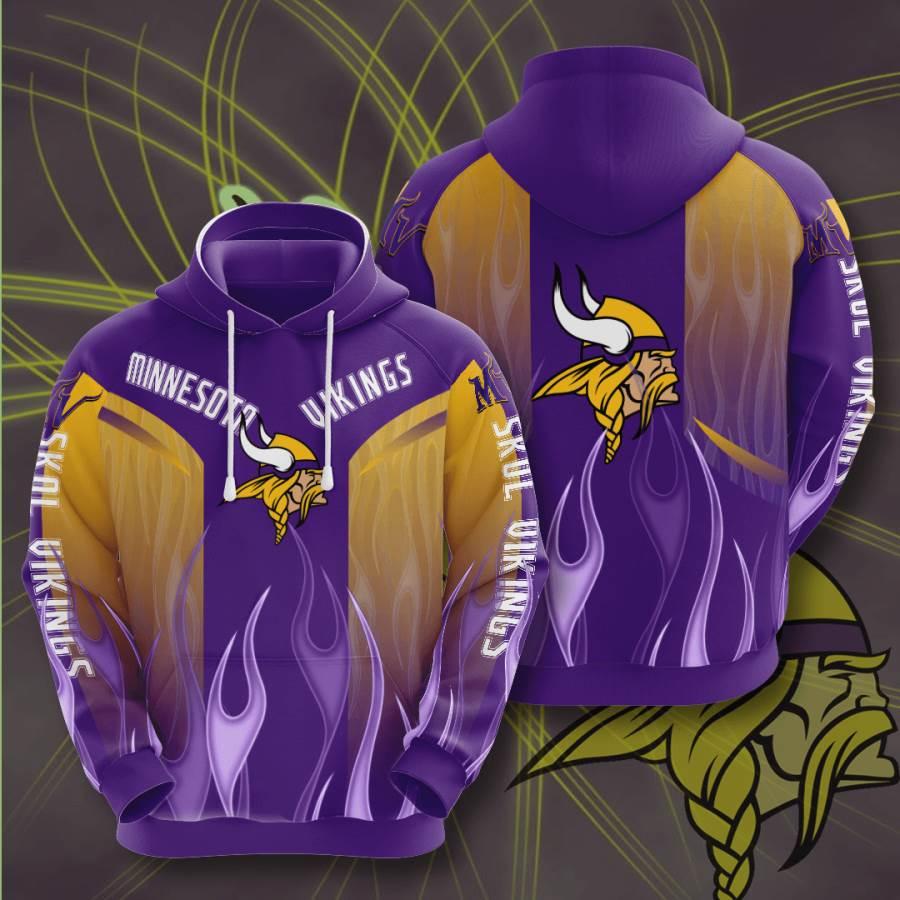 Minnesota Vikings No1233 Custom Hoodie 3D