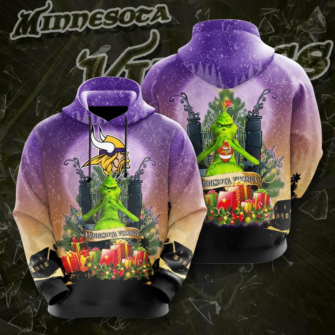 Minnesota Vikings No1241 Custom Hoodie 3D