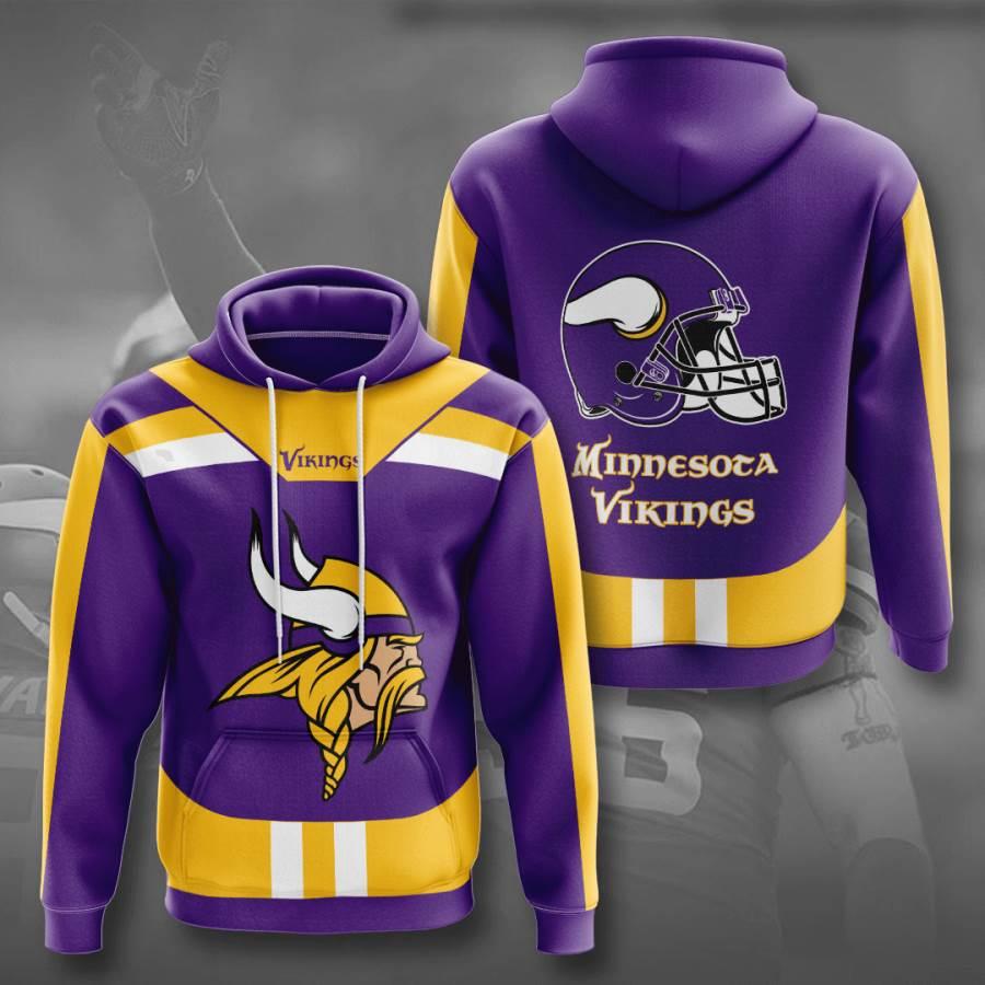 Minnesota Vikings No1244 Custom Hoodie 3D