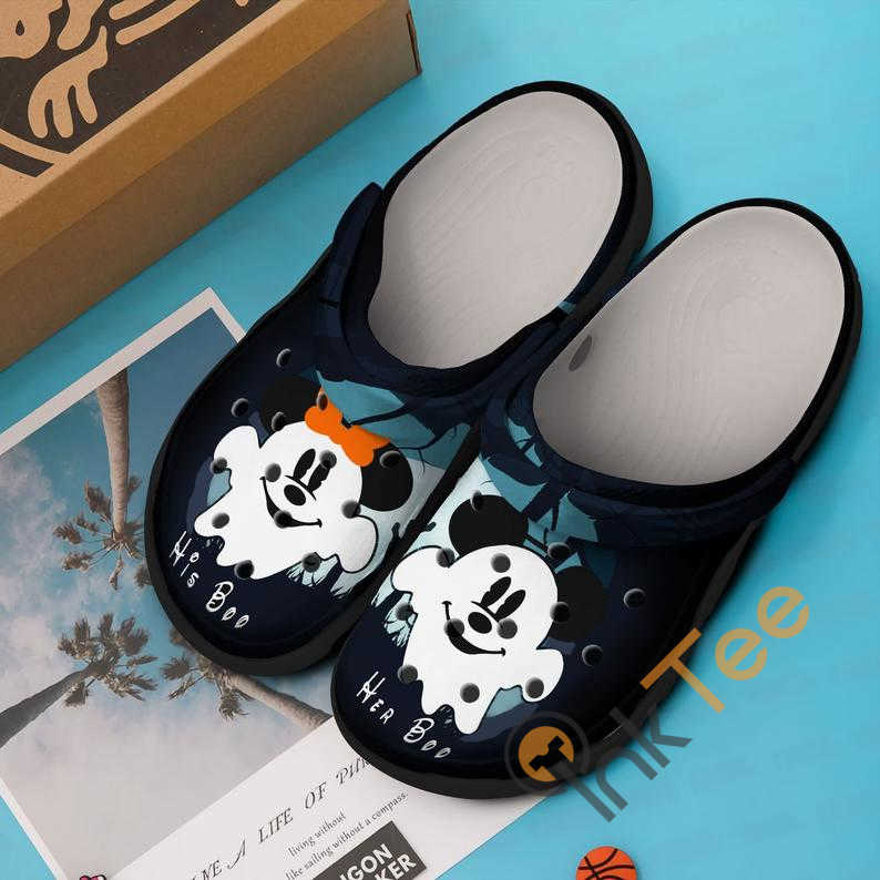 Minnie And Mickey Mouse Couple Boo Crocs Clog Shoes