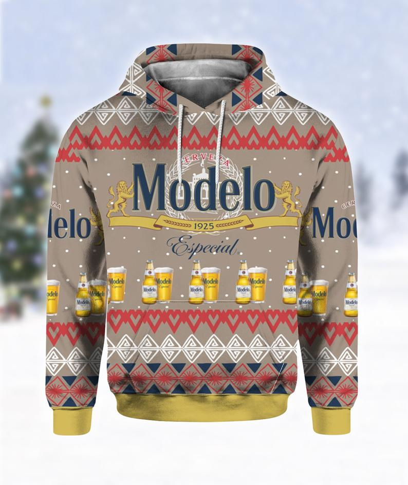 Modelo Especial Beer Ugly Sweater
