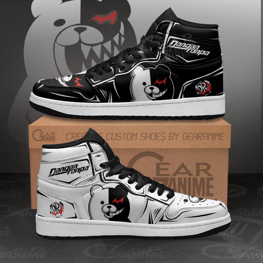 Monokuma Sneakers Dangan Ronpa Custom Anime Air Jordan Shoes