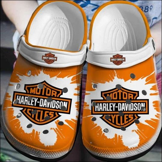 Motor Harley Davidson Crocs Clog Shoes