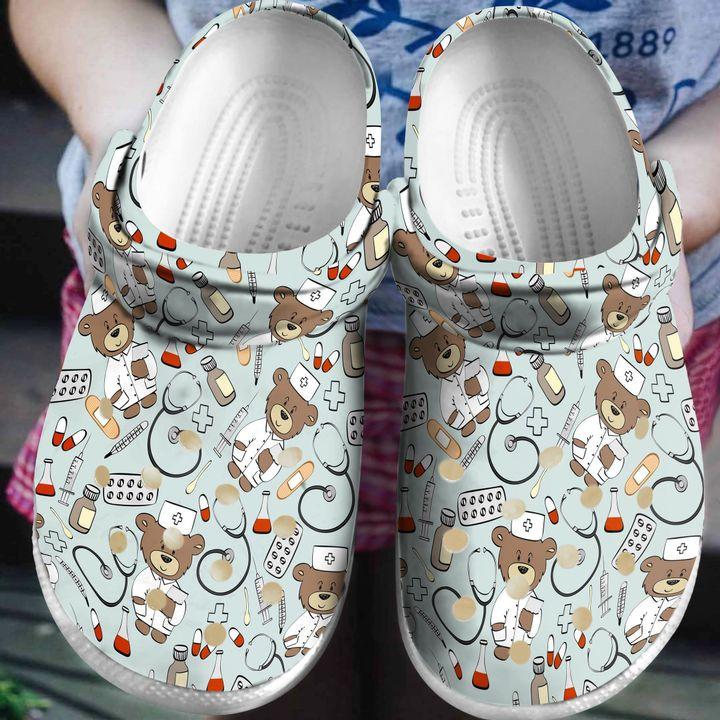 Nurse Nursing Life Sku 1691 Crocs Clog Shoes