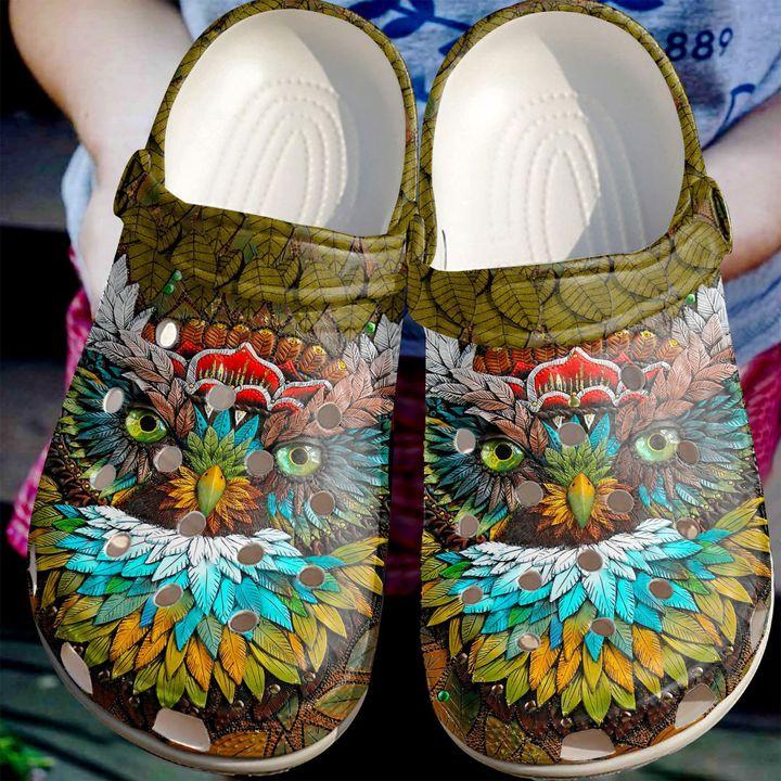 Owl Mystic Sku 1758 Crocs Clog Shoes