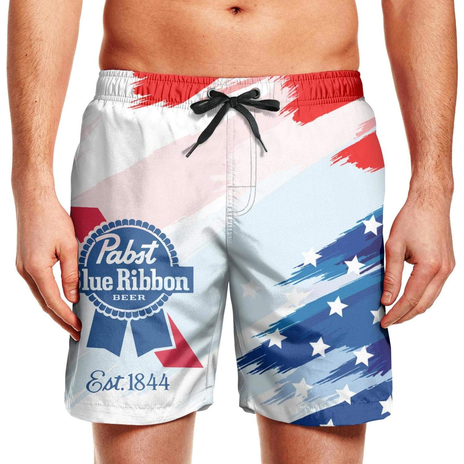 Pasbt Blue Ribbon Beer Patriotic American Usa Flag July 4th Shorts