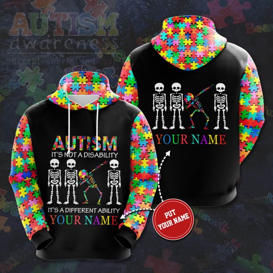 Personalized Autism Awareness. No137 Custom Hoodie 3D