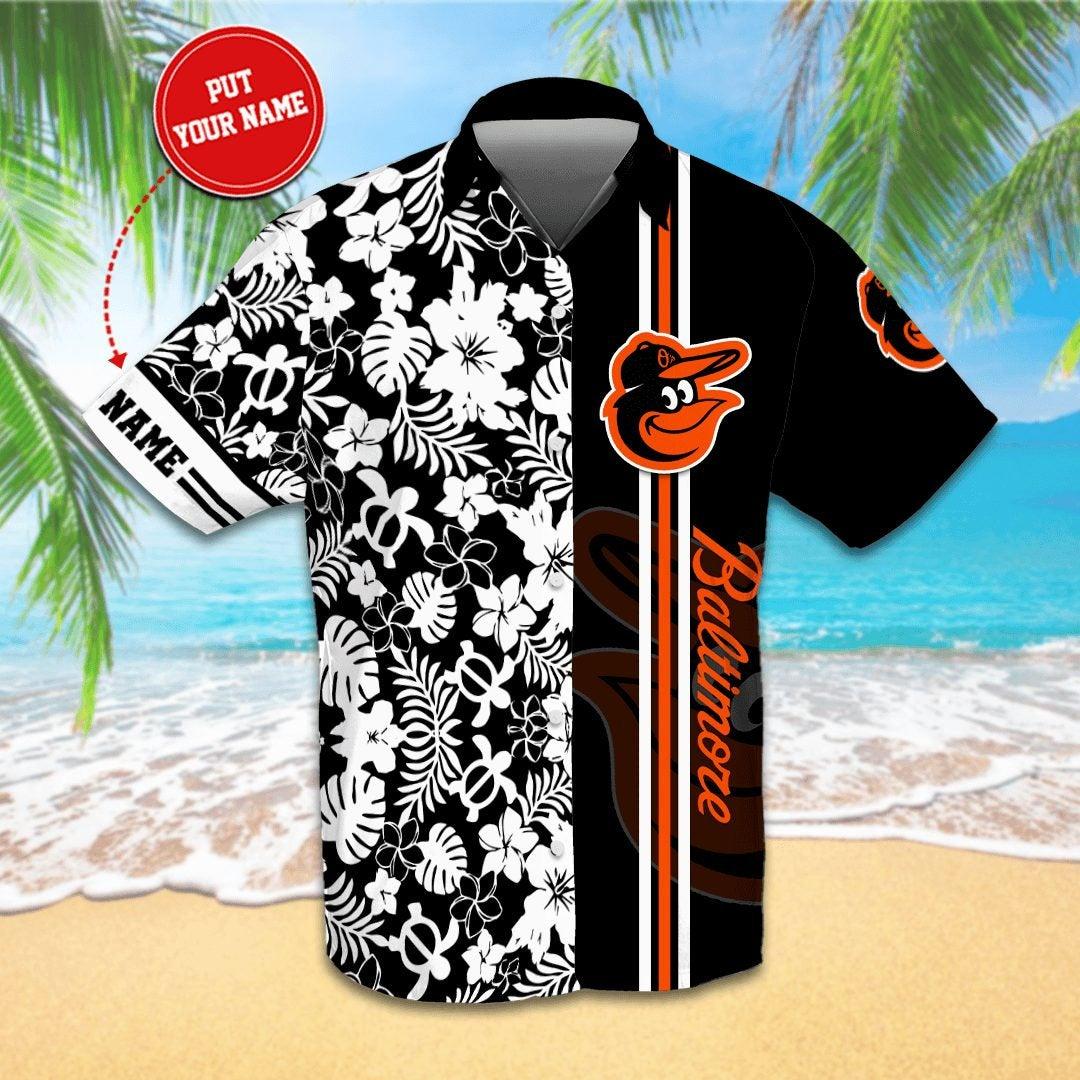 Personalized Baltimore Orioles Hawaiian shirts