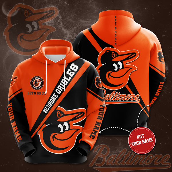 Personalized Baltimore Orioles No151 Custom Hoodie 3D