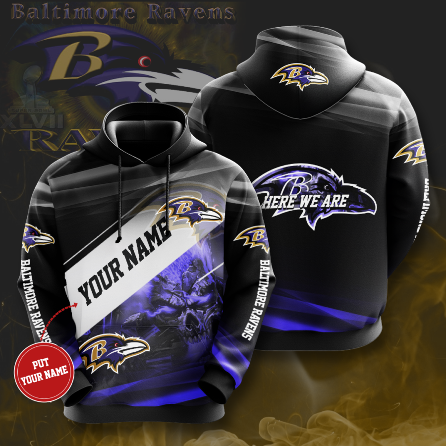 Personalized Baltimore Ravens No175 Custom Hoodie 3D