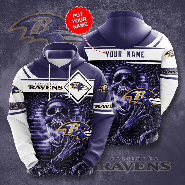 Personalized Baltimore Ravens No177 Custom Hoodie 3D